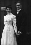1909 / Hochzeitsbild von Margarete und Alfred Geyer