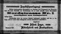 1919 / Geschaeftsverlegung