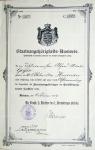 1909 / Staatsangehoerigkeitsausweis von Alfred Geyer