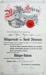 1910 / Buergerschein von Alfred Geyer