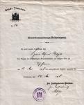 1908 / Gewerbeanmeldung