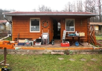 Gartenhaus ohne Pergola