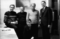 Martin Geyer mit den Tischlern Anfang der 70er Jahre
