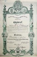 1902 / Lehrbrief von Alfred Geyer
