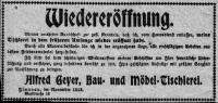 1918 / Wiedereroeffnung