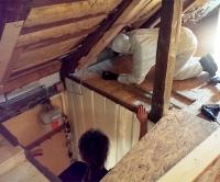 Dachgeschoss während des Umbaus