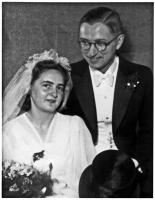 1946 / Hochzeitsbild von Helene und Martin Geyer
