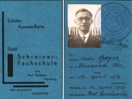 1939 / Schuelerausweis von Martin Geyer